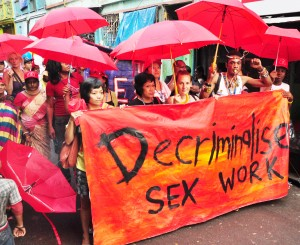 Sex workers mobilize for their human rights. Photo credit: Asia Pacific Network of Sex Workers