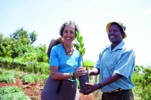 Ruth Messinger in Kenya with an AJWS grantee staff member