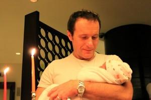 Rabbi Steven Greenberg's partner, Steven Goldstein, with his daughter Amalia.