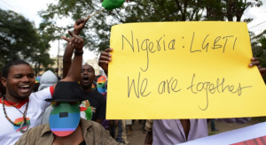 Demonstrators in Nairobi, Kenya rally against wave of anti-gay legislation in Africa. Photo: Getty Images.