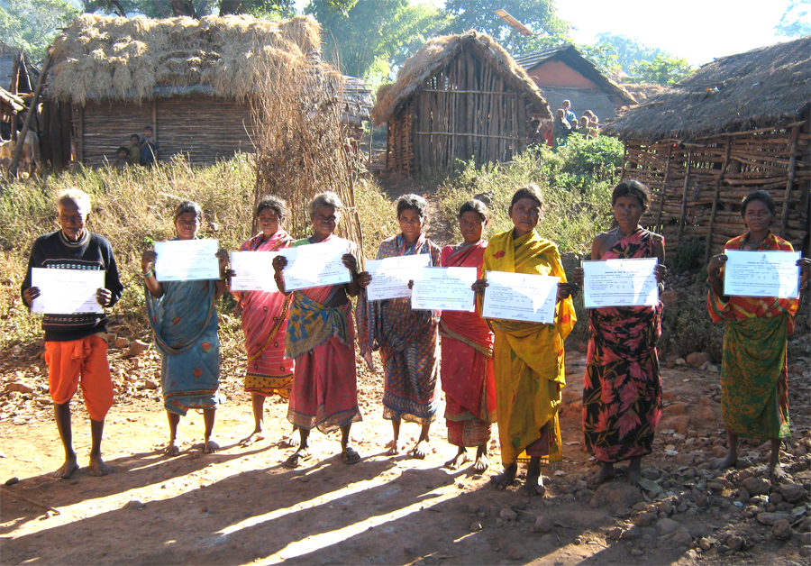 Forest land records received by Kaptadiha applicants in Kaptadiha village, India