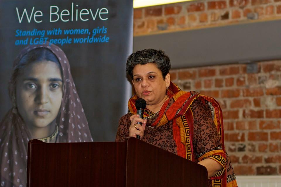 Manisha Gupte, founder of AJWS grantee MASUM, an organization that empowers women in India