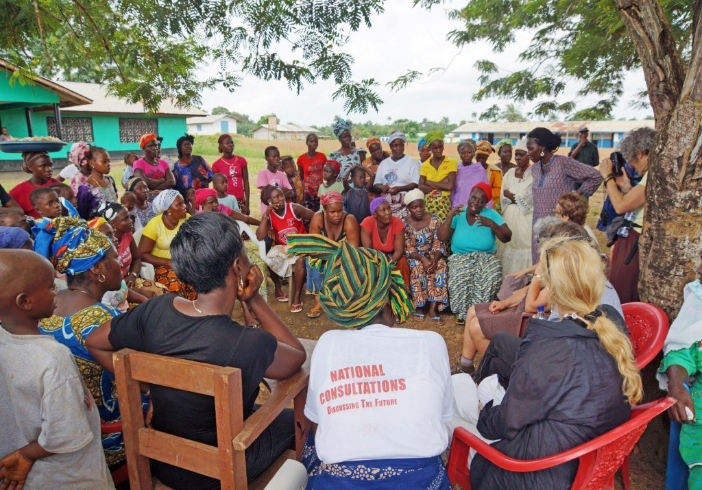 AJWS grantee, The Mano River Women's Peace Network (MARWOPNET), used its community radio station to spread messages about Ebola prevention and ways to seek help for suspected Ebola infections in northern Liberia.