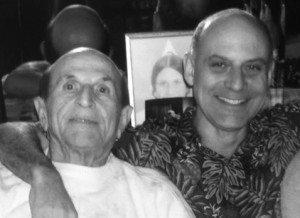 Heshe Dube, left, father of Monte Dube, right