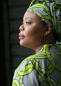 Leymah Gbowee, director of AJWS's grantee WIPSEN, winner of the 2011 Nobel Peace Prize